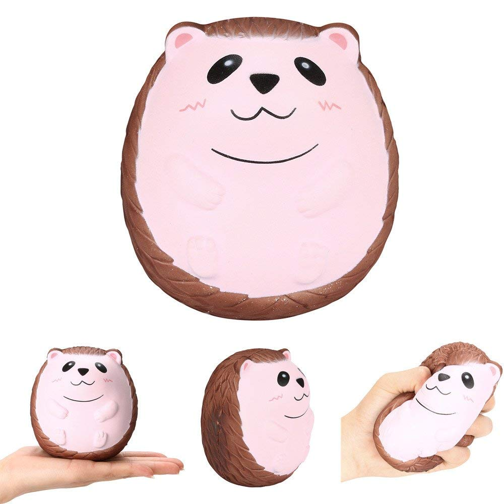 USHOT Clearance Squishy Cute Hedgehog Scented Charm Slow Rising Squeeze Stress Reliever Toy