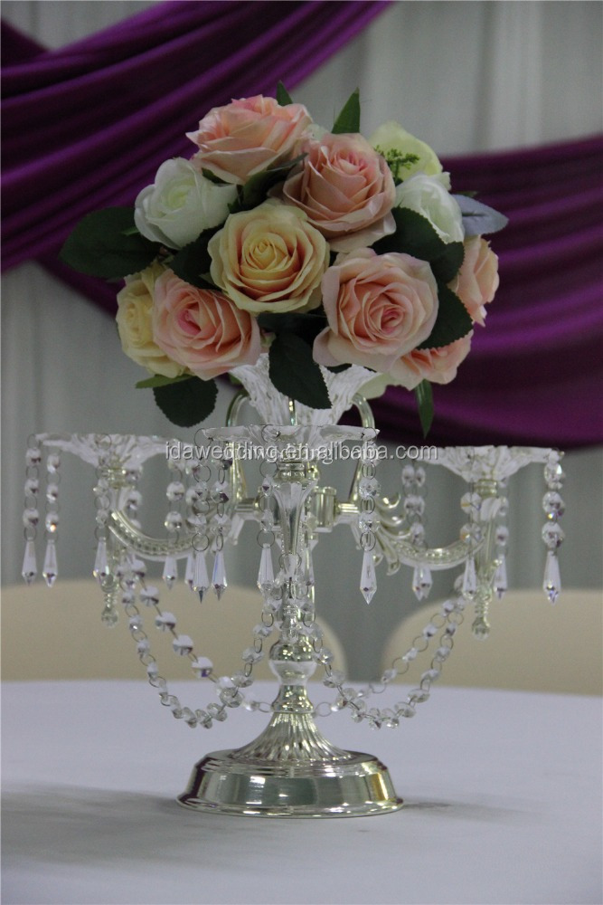 centerpieces for wedding table/silver wedding centerpieces/handmade centre piece for wedding table