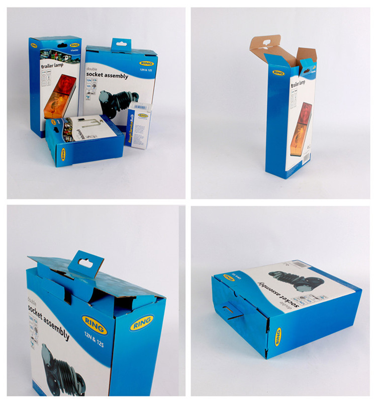 Custom printed corrugated cardboard packaging box for auto parts