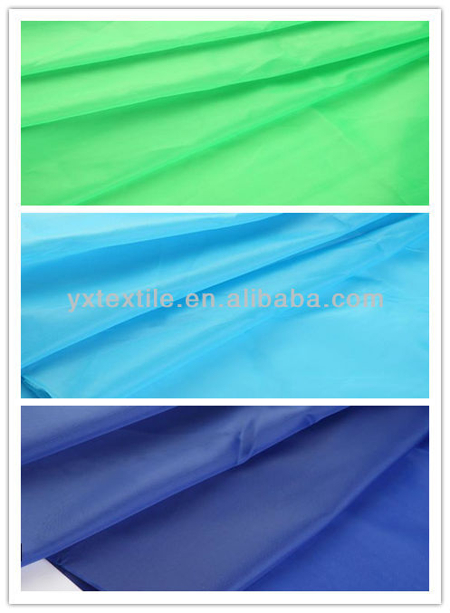 pa coated blue polyester taffeta waterproof for umbrella