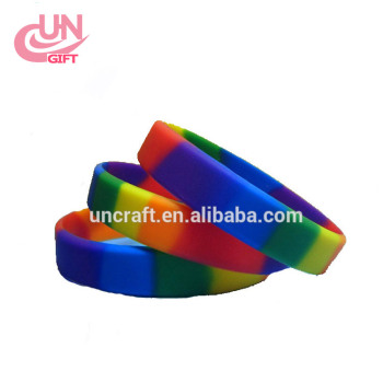 Rainbow men and women universal Silicone Bracelet Wrist Band