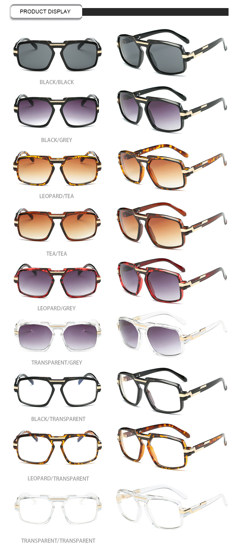 Ready Stock Gradient Metal Frame Square Women Shades Oculos Sunglasses