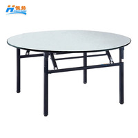 6ft round folding banquet table