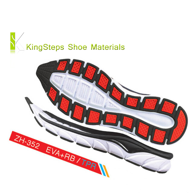 EVA+RB sole for running shoes made in Jinjiang new sports shoe soles outsoles KSZH-352