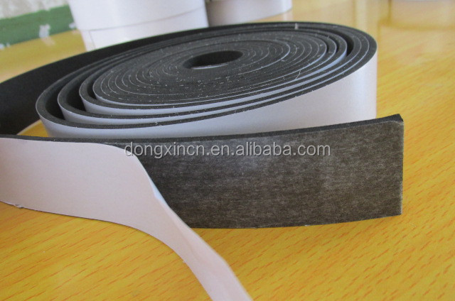 Black extruded 3m adhesive backed rubber strips seal for distribution box