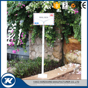 free standing metal mailbox for letters made in Guangdong