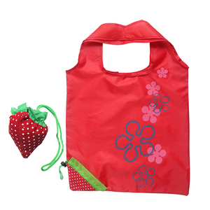 nylon foldable reusable shopping strawberry bag