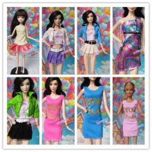 2016   many style handmade  Outfit    Fashion Evening Clothes cute  short skirt  For Barbie Dolls