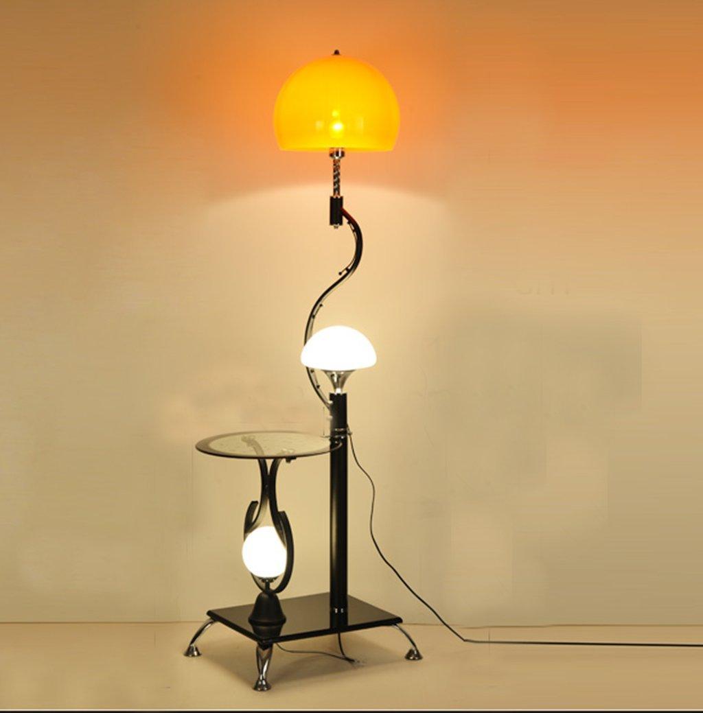 WENBO HOME- Floor Lamp Coffee Table Lamp Living Room Simple Modern Bedroom Study Creative Vertical Table Lamp Lamp -floor lamp ( Color : Orange-red )