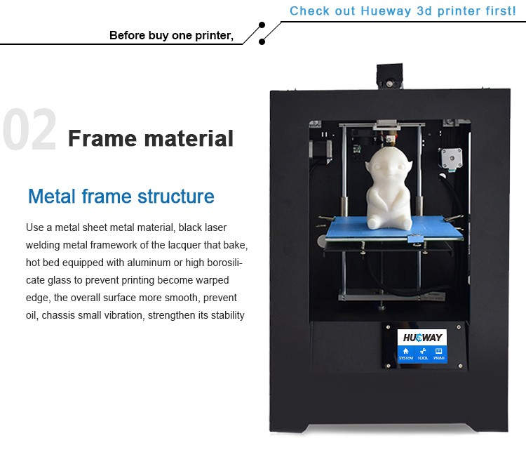 Rapid Prototyping Plastic PLA ABS 3D Printer Machine DHL Shipping Fast