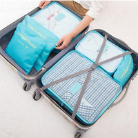 Wholesale Waterproof Travel 6 Pcs Set Nylon Storage Bag In Trolley Case