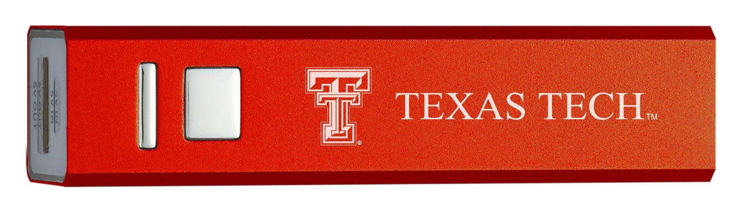 Texas Tech University - Portable Cell Phone 2600 mAh Power Bank Charger - Red