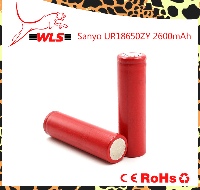 Hot sale! Original Sanyo 18650ZY li ion battery 2600mAh 3.7V rechargeable cell for segway mini