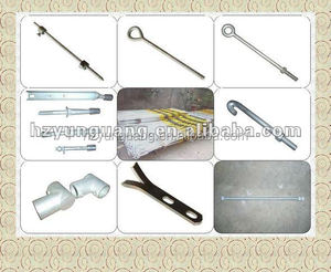 electric power fitting pole line hardware accessories corrugated steel stay rod special shape copper steel bar hook