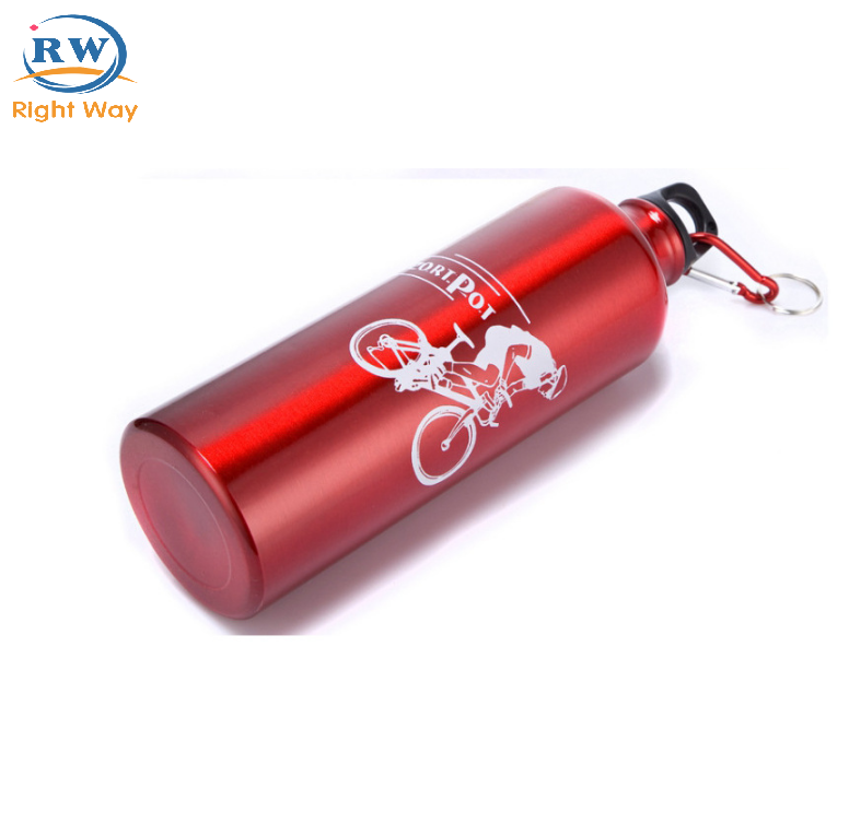 Aluminum Alloy Outdoor Travel Bicycle Sports Drink Bottle With 300ml/400ml/500ml/600ml/750m