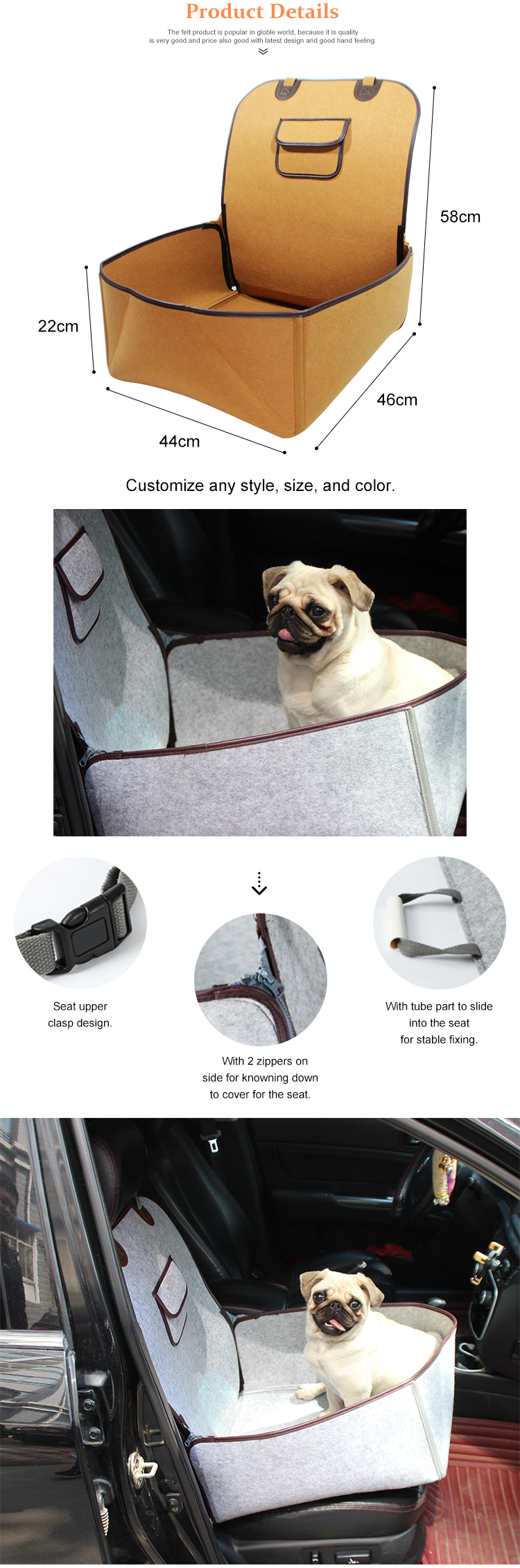 Wholesale Pet Hammock Car Seat Cover Mat For Dog
