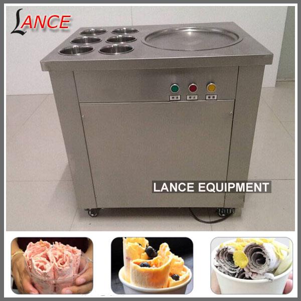צעיר חמה למכירה מטוגן תאילנדי מחיר מכונת גלידה--מספר זיהוי מוצר LF-35