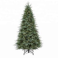 6ft 7ft 8ft 9ft Slim Pre Lit Artificial Christmas Trees with LED Lights