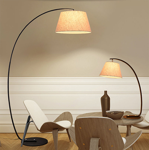 fancy european modern decorative big fish floor lamp