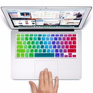 "Rainbow languages US 13"" Keyboard skin, Silicone Keyboard Protector film For Macbook Pro Air Retina 13"" 15"" 17"" laptop cover"