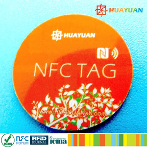 Mobile read and write Ntag213 anti metal adhesive NFC sticker