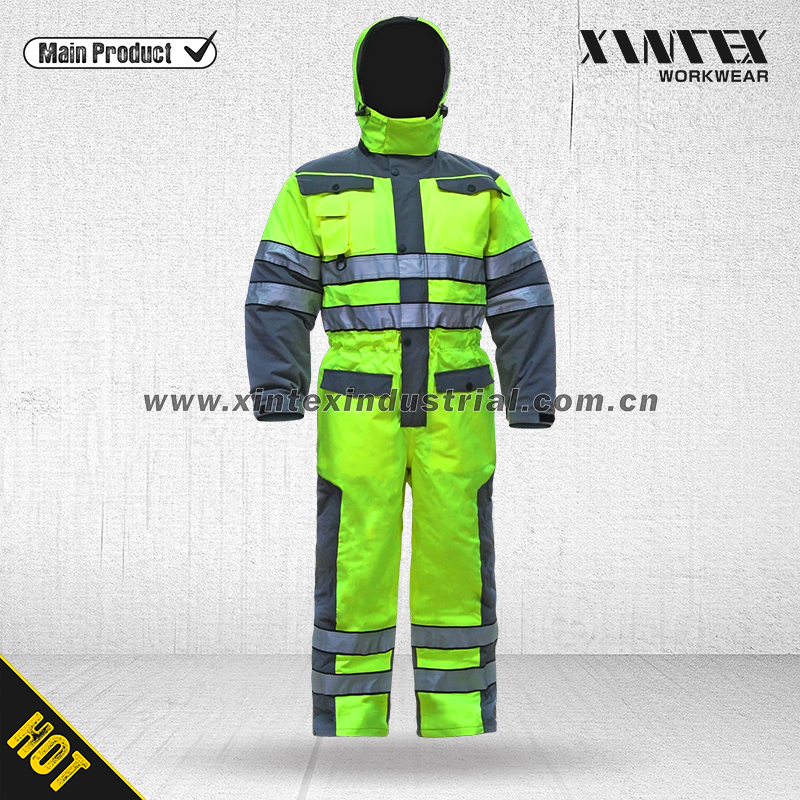EN471 High visibility workwear padded coverall