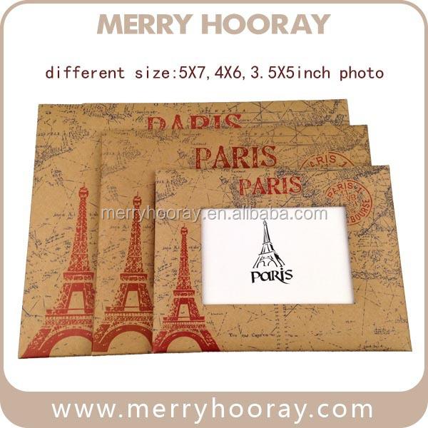 custom tourist souvenir cheap newyork paper picture frames 5x7