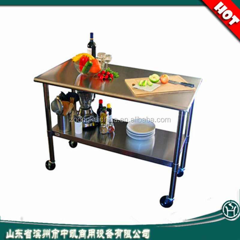 Commercial kitchen stainless steel work table food factory equipment buy factory equipment - Commercial kitchen tables on wheels ...