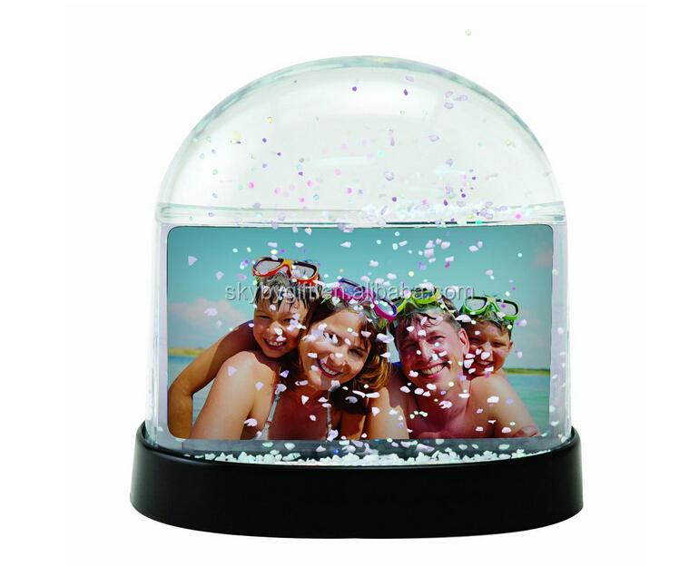 Rectangle Flower 3d Floater Glitter Photo Frame Snow Globe - Buy ...