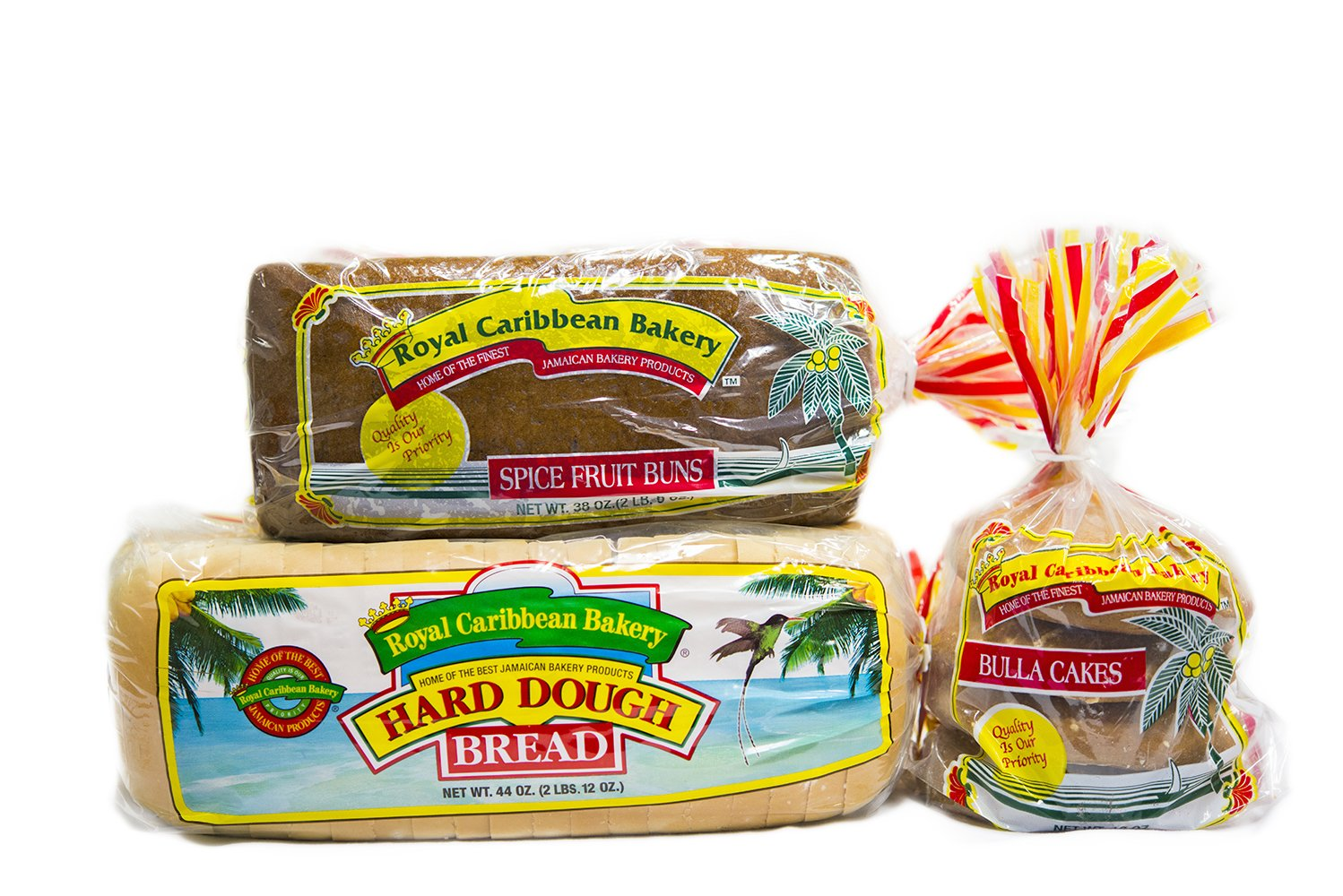 Royal Caribbean Bakery Variety Pack (Hard Dough Bread, 44 Oz.; Spiced Fruit Bun, 38 Oz.; Bulla Cakes, 16 Oz.)