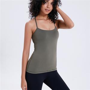 187afdb708663 Women Dry Fit Open Side Tight Plain Breathable Sport Bra Ladies Gym Tank Top