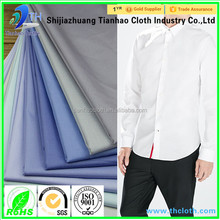 shijiazhuang hot sale t-shirt cotton fabric/100% cotton yarn dyed shirting fabric