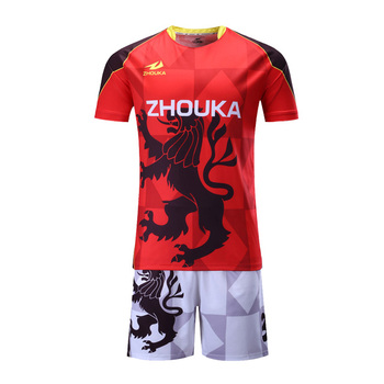 9a9b9edad6e China Custom Wholesale Custom Soccer Jerseys Kits Guangzhou Factory Custom  Images Sublimation Polyester Football Jerseys