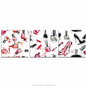 Dressing Room Vogue Decorative Canvas Printing Nail Polish High Heel Shoes Girls Room Decoration Canvas Prints