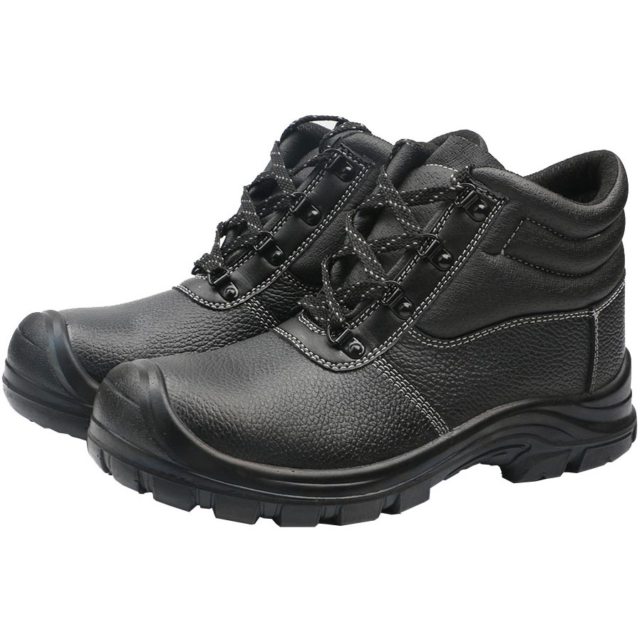 17a9b9048ec2df Black Leather Steel Toe Cap Safety Shoes - Buy Safety Shoes,Steel ...