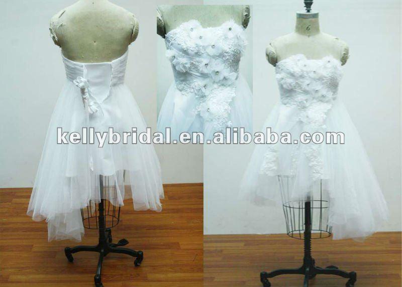 Short Asymmetrical Wedding Gown, Short Asymmetrical Wedding Gown ...