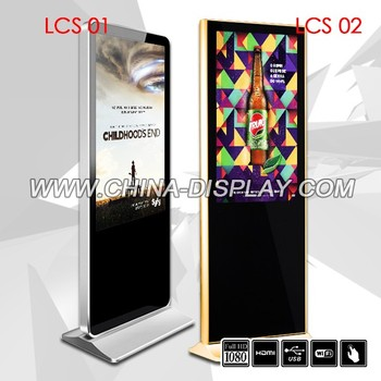 TFT Type and Indoor Application 42'' floor stand touch screen LCD advertising display
