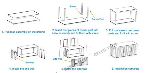 Ch-wh051 A Frame Modular Homes With 2 Bedroom From China Factory ...