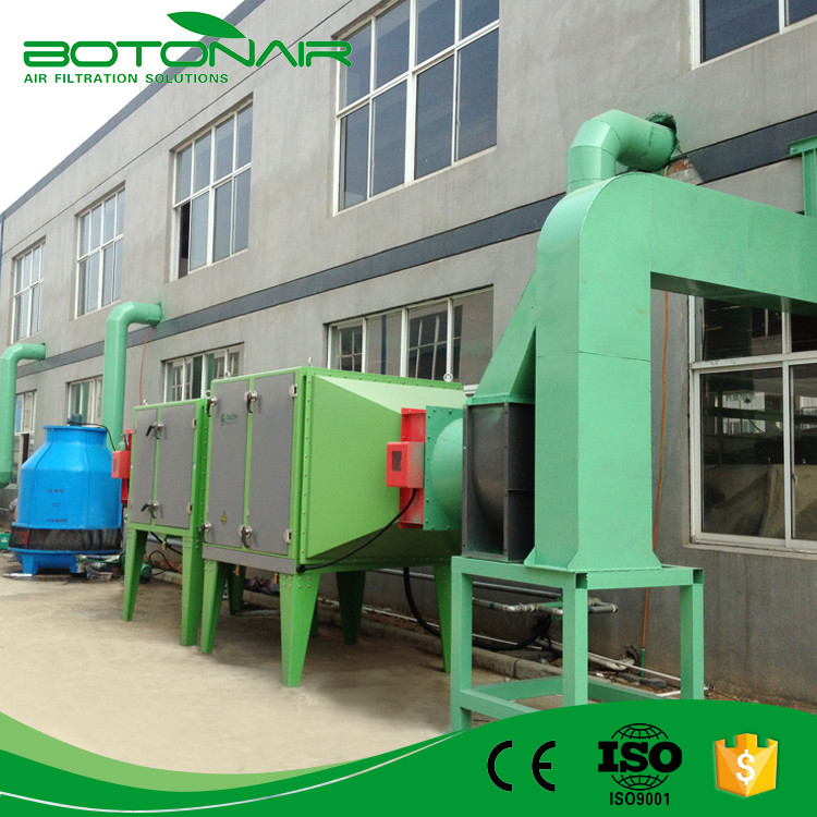 High Efficient Industrial Series Electrostatic Precipitator ESP for Heat Setting Machine