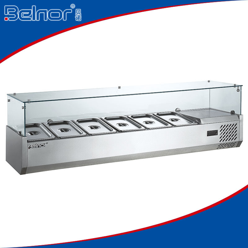 Steel Refrigerated Counter Top Salad Bar For Hotel - Buy Counter ...