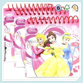 cartoon pattern paper cover single pp spiral drawing books for kids
