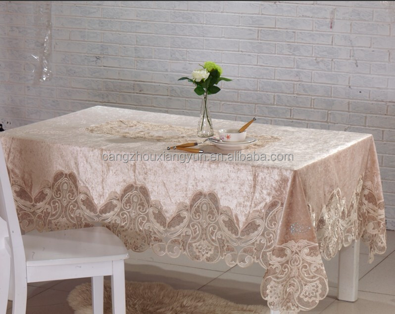Hot Ing White Lace Overlay Tablecloth Wedding Table Cloth Rack Fashionable Product On Alibaba
