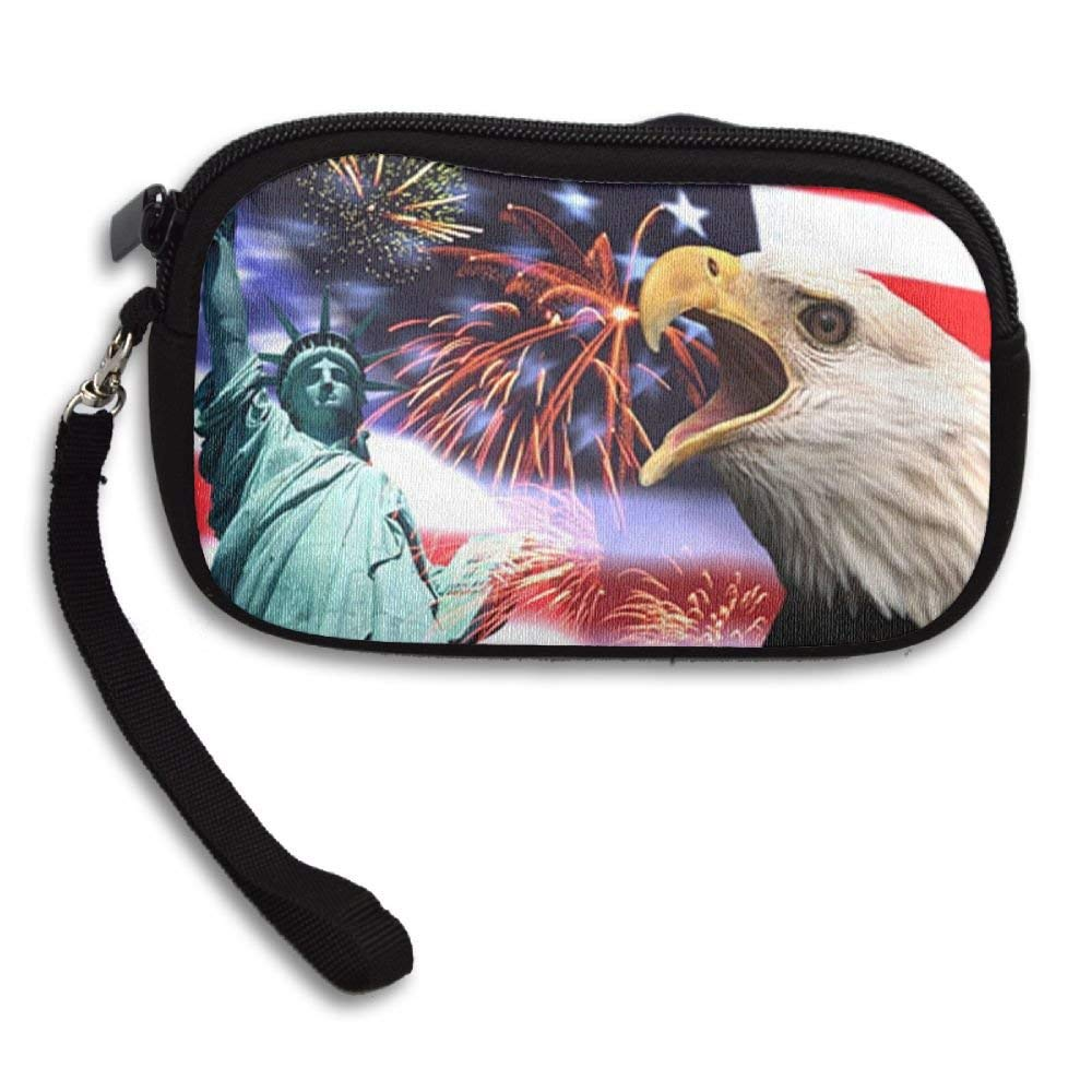 OCKLNT Unisex Clutch Wallet For Woman Ladies -God Bless America Long Purse Bag Men Gentlemen