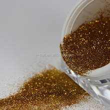 environmental friendly ultra fine foil gold glitter powder for paint ball