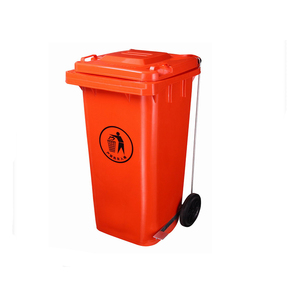 Plastic Garbage Bin for 120L with Foot Pedal Side Wheel