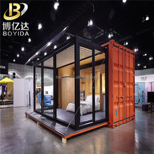 China 20ft high cube container hotel diy <span class=keywords><strong>goedkope</strong></span> prefab moderne glas huizen
