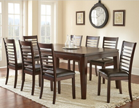 cheap antique appearance oak wood 8 seater dining table