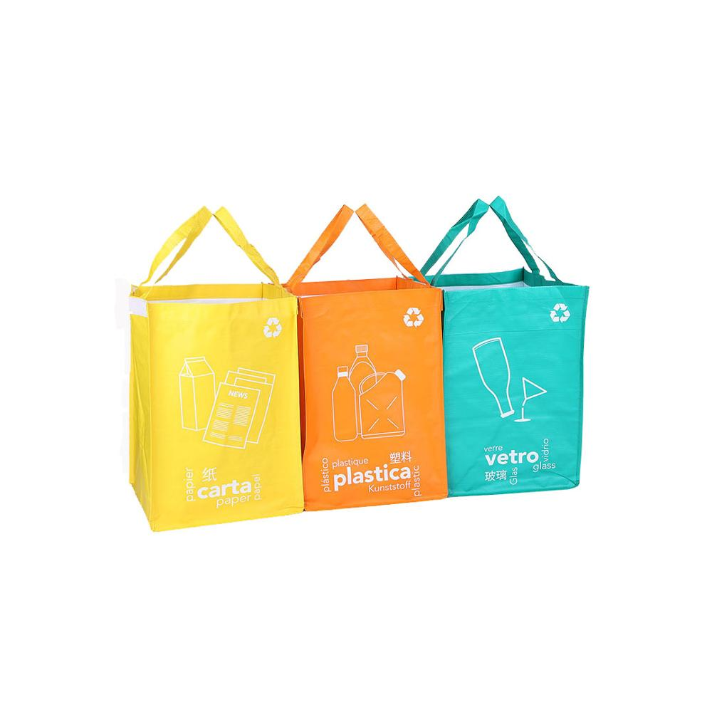 china supplier wholesale custom logo recycle pp woven trash bag,pp woven garbage bag,pp woven disposal bag