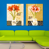 Home decor customized modern canvas two panel painting by numbers