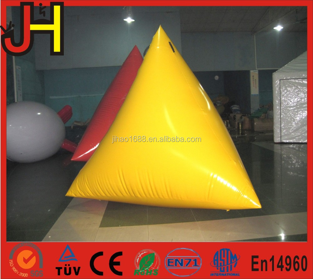 Customized Inflatable Floating Triangular Buoy For Water Game